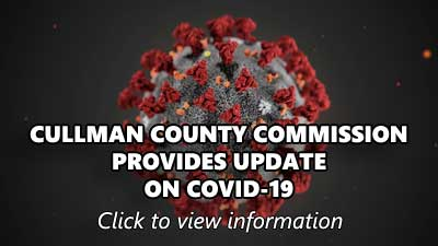 CULLMAN COUNTY COMMISSION PROVIDES UPDATE ON COVID-19. Click to view information.
